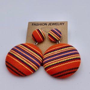 Fashion jewelry earrings cloth 2 inch drop NWT